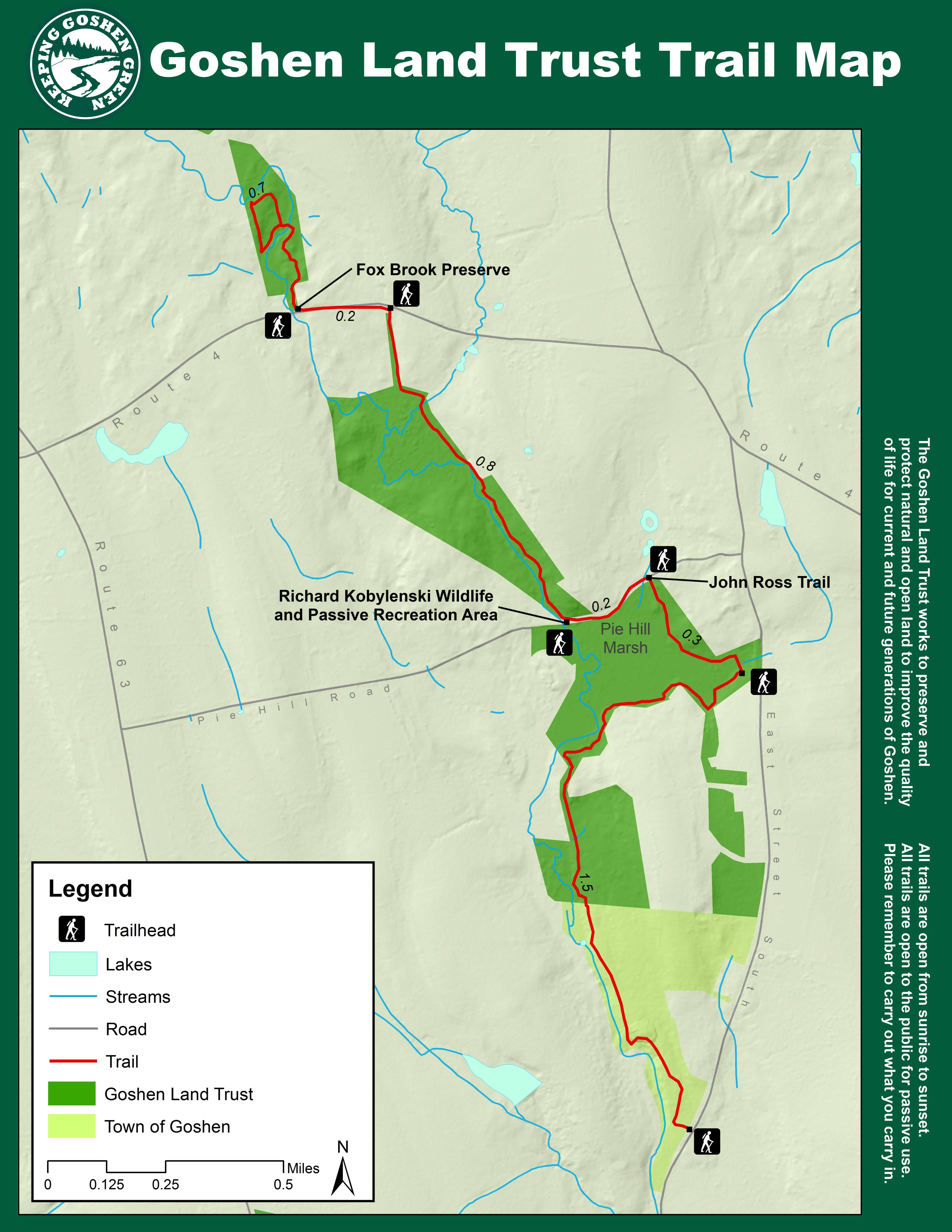 Goshen Land Trust Home - Us trails map